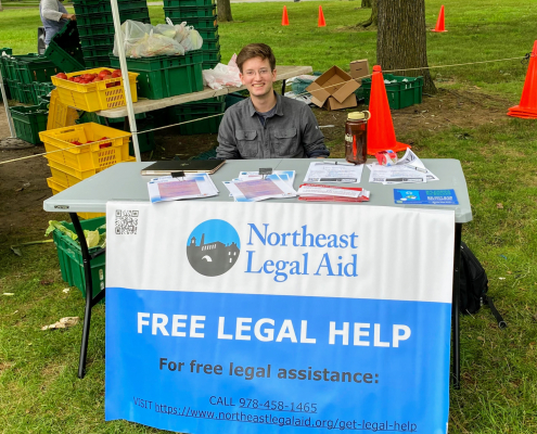 Table with information about free legal help
