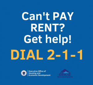 Can't pay rent? Get help! Dial 2-1-1